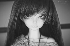 monochrome beauty (The Darkest Star ) Tags: bjd fairyland minifee rheia dolljewelry dollnecklace bjdjewelry bjdnecklace