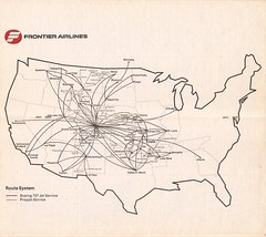 FLtt01AUG78 02 (By Air, Land and Sea) Tags: airline timetable schedule frontier frontierairlines fl map routes routemap destinations 1978