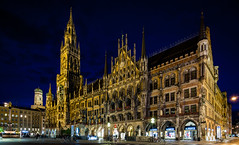 New Town Hall Munich (Sucherauge) Tags: munich cityhall night landmark bavaria germany munichnight architectureinpixels rathaus mnchen rathausmnchen townhall architecture building city