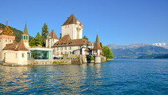 Oberhofen Castle, Lake Thun (mandar_haridas) Tags: oberhofen castle oberhofencastle lakethun lake thun interlaken switzerland jungfrau region europe jungfraujoch top topofeurope wengen murren lauterbrunnen summer july beautiful green landscape