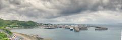 Mallaig-Harbour-Panorama (Ray Devlin) Tags: mallaig harbour panorama mallaigharbour harbor scotland highlands port eigg island coastline shoreline clouds storm nikon d800 nikond800