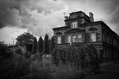 Vampiric Lodge (salahudin's paragnomen) Tags: krakw krakoff street architecture building bw 123bw dark house city urban old scary gloom