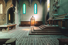 Heisenberg. (Johannes Burkhart) Tags: 5d urbex blue abandoned decay church schattenlicht lostplace canon jesus holy chapel
