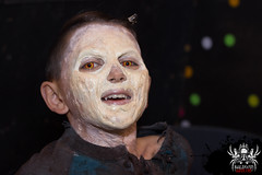 This feels funny (SlayervilleProd) Tags: zombie makeup halloween baldwinasylum slayerville slayervilleproductions undead hauntedhouse baldwinasylum2016videoshoot