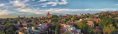 San Miguel in the  Evening (Waywuwei) Tags: lenszuiko1122mmf2835 sanmigueldeallende mexico guanajuato cameraolympuse5 panorama