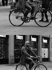 [La Mia Citt][Pedala] (Urca) Tags: milano italia 2016 bicicletta pedalare ciclista ritrattostradale portrait dittico bike bicycle nikondigitale mir biancoenero blackandwhite bn bw nn 89144