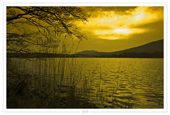 Sunset over Loch Beag, Scotland (-Joe'S-) Tags: sunset lake nature water landscape scotland eau lac highland paysage crepuscule ecosse 5dmarkii