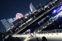 Yokohama Smart Illumination : Speed of light (spiraldelight) Tags: light smart night speed cityscape illumination yokohama  ef24105mmf4lisusm eos5dmkii