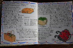 Travel Journal First Page (noriko.stardust) Tags: travel summer vacation holiday france colour art illustration writing watercolor notebook french japanese sketch pages drawing diary illustrated letters cartoon journal craft blogger watercolour calligraphy entry journalling notebookism