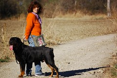 A Walk in the Forest (Giopuppy) Tags: park november autumn italy orange dog black home nature animals forest d50 mom nikon italia novembre nikond50   autunno          carmagnola