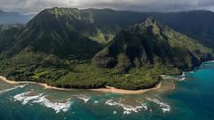 Haena & Wainiha Ridge (Tn) Tags: ocean park beach clouds island hawaii unitedstates pacific pacificocean kauai tunnels reef balihai haena keebeach wainiharidge tonyvanlecom