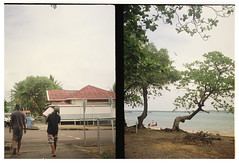 Thursday Island (electricnerve) Tags: beach beer pen boats boat fuji superia olympus queensland tropical fujifilm halfframe tropics ee markroy torresstrait thursdayisland electricnerve