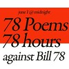 "78poems_78hours_law78 <a style=""margin-left:10px; font-size:0.8em;"" href=""http://www.flickr.com/photos/78655115@N05/8177811871/"" target=""_blank"">@flickr</a>"