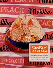 1955 PEACH MELBA SEALTEST (1950sUnlimited) Tags: food design desserts icecream 1950s packaging snacks 1960s dairy midcentury snackfood sealtest