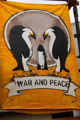 War and peace (Val in Sydney) Tags: sculpture art beach animal war peace sydney australia tent nsw rod sculpturebythesea mcrae wonders 2012 the tamarama sxsbondi pinguoin