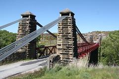 South Island, New Zealand (Chris&Steve) Tags: bridge newzealand southisland centralotago suspensionbridge 2012 1880 ophir schist macgeorge manuherikiariver danieloconnellbridge mdmacgeorge