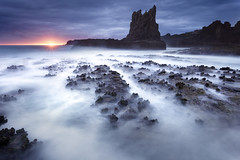 Cathedral Rocks (stevoarnold) Tags: ocean blue sunset seascape water clouds sunrise landscape colours australia landmark nsw southcoast illawarra cathedralrocks