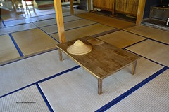 Tatami mats, a leaf fan and a rice hat (Electra V.K. (now in Tokyo)) Tags: travel colour japan island fan nikon pacific  okinawa tradition    ishigaki            greekphotographers  sugegasa    d3100  gettyimagesjapan12q4 tatamijapanasiapacificokinawarice hatleaf japan