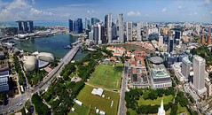 Marina Bay Singapore  Panorama... (williamcho) Tags: architecture singapore cityhall ngc central aerial financialdistrict esplanade fullerton supremecourt parliamenthouse nationalgeographic clarkequay singaporeriver cricketclub cliffordpier robertsonquay explanade esplanadebridge onefullerton theadelphi standrewcathedral gardensbythebay marinabaysands peninsulaplaza flickraward thepadang theunforgettablepictures marinabaysingapore nikonflickraward theshoppes panoramafotogrfico topazlabadjust marinabayfinancialcentre singaporeartsciencemuseum williamcho ouetower ouebayfrot peninsulaexcelsiorhotels central