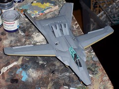 1:72 Italeri - MiG-37Sh  / Snowy owl (Ferret G); (Whif/kit conversion) - WiP (dizzyfugu) Tags: grey ferret model war conversion russia snowy aircraft attack ground fantasy soviet owl stealth kit 37 mig gurevich f117 mikoyan chechen f19 whif diz
