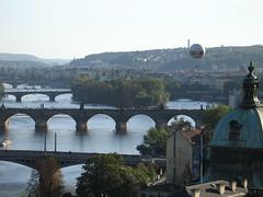 River Vltava with Bridges & Baloon_From Letna/ Prague 7/ Prag 7, Bohemia IMG_7719 (vratsab) Tags: park europe prague prag praha bohemia letna letenskesady czechceskoboehmencentral