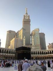 Baitullah Sharif with Makkah Clock Tower at the background. (Sanjeed (NatureLover)) Tags: canon makkah baitullah pocketdigicam makkahclocktower