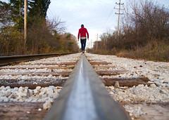 Just Walking (Tim Fitzwater) Tags: me traintracks tracks timfitzwater
