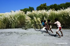 And the race begins... (lopamudra bag) Tags: blue sky rural kid village bengal bangla lopa lopamudra kpw kashful incrediblebengal bengaltourism kolkataphotographersworld lopamudrabag lopamudrabagphotography
