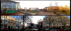 #327 iPhone5 Panorama  Hamburg Ottensen (flickranet) Tags: autumn light sky urban panorama sun sunlight caf colors collage contrast germany deutschland lights iso100 licht iso200 colorful hamburg herbst himmel sunny panoramic handheld sonne bunt pavillon ottensen autumnsun iphone f24 leuchten sonnenlicht yabbadabbadoo herbstsonne kemalaltunplatz iphone5 beiderreitbahn hamburgottensen hamburgpanorama grosebrunnenstrase tiefenscharfe eulenstrase hamburgattraction flickranet panoramacollage