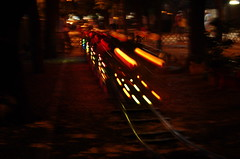 the ride of the dragon (SS) Tags: park light red summer italy abstract motion night pentax pov trails explore framing dynamism lazio k5