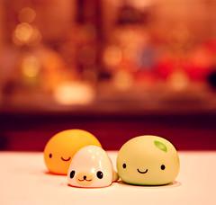bright night (StrawberryCuteness) Tags: japan toy toys japanese seal buns figure onsen figures rare bun kun manju mamegoma kawaiishopjapan