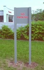 Exterior Parking Lot Post & Panel Sign