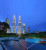 the Petronas Twin Towers (Danial Abdullah) Tags: park city nightphotography tower monument fountain architecture night skyscraper cityscape malaysia blended twintowers danial bluehour kualalumpur dri klcc tutorial klccpark suriaklcc danielcheong vertorama danialabdullah