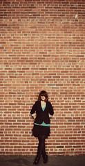Riot (bammerphotos) Tags: urban cute brick girl beautiful fashion vertical riot nikon focus pretty pattern dof background gorgeous shift aimee crop bp tilt blazer bg aims d5000 nikond5000 bammerphotos aimedesign bammerphotograpghy