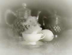 Some Like It Hot (blair4bears) Tags: bw stilllife lemon tea fantasy teapot dreamlike teatime