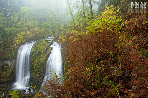 park b autumn mist fall water leaves rain fog oregon creek john river landscape ian photography moss long exposure state scenic columbia images double falls upper trail national area gorge wilderness mccord cascade bonneville sane yeon warrendale