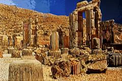 Persepolis (mehr-zad) Tags: new ancient iran nikond70 persia shiraz persepolis antiquity nikkorlens photoshopsc2 ancientiran picasa3 achaemeniddynasty paintingphototgraphy digitalphototgraphy