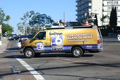 CW6 News Van (So Cal Metro) Tags: news ford television tv media satellite reporter hillcrest econoline localnews newsvan eseries cw6