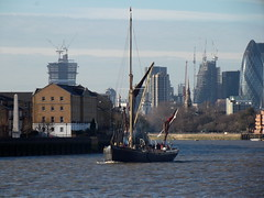 Thames Sailing Barge Lady Daphne /02/12/2012/ (philip bisset) Tags: england london thames lady river united kingdom wharf daphne greater canary westferry thamessailingbarge