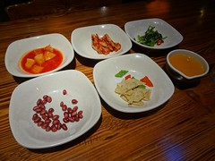 Korean Appetizers @Qiannen, Gubei, Shanghai (Phreddie) Tags: hot dinner restaurant shanghai tofu bean pot eat korean curd gubei doufu 121203 jjiae