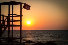 Rhodes - Greece (WTH86) Tags: life sunset sea summer sky sun beach canon landscape view sundown gorgeous watch guard lifeguard scene greece ii setting rhodes marmaris f3556 1100d 1855mm