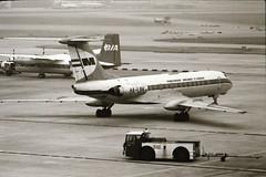 Malev, Tupelev .TU 134A (takoyaki 77) Tags: aviation 1975 heathrowairport airliners malev hungarianairlines tu134a airportscenes halbk tupelev russianairliners