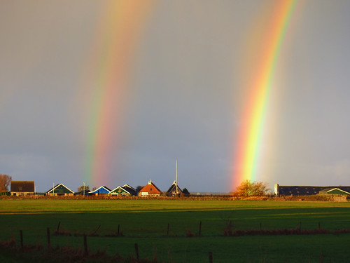 Rainbow in full sun, Regenboog in volle zon