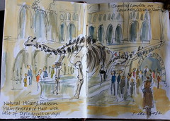 Natural History Museum, London (noriko.stardust) Tags: art history museum illustration painting notebook sketch natural drawing diary illustrated journal blogger journalling drawinglondononlocation