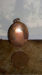 Etched Copper Pendant: small raven (rainypotato) Tags: water for etching eagle sale turtle salt frog copper raven etch pendant gwaii haida electrolysis