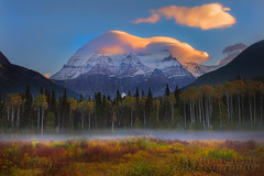 Mt Robson Lenticular Sunrise_FB (kevin mcneal) Tags: autumn fall weather clouds landscape britishcolumbia mount robson lenticular canadianrockies