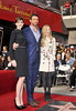 Anne Hathaway, Hugh Jackman, and Amanda Seyfried Hugh Jackman is honoured with a Hollywood Star on the Hollywood Walk of Fame Los Angeles, California