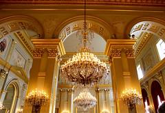 Dorures et lustres... 1   ( Palais royal Bruxelles ) (valerierodriguez1) Tags: dorure ceiling inside canon eos 7d palais royal palaisroyal belgique belgium