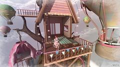 Don't grow up! (Anita Armendaiz) Tags: astralia baloons bench flags furniture hanging fort hot light rare second life table the arcade gacha tree