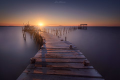 The last dock (Iván F.) Tags: explore explorer landscape landscapes portugal carrasqueira seascape long exposure water sea blue golden hour sunstar sundown atardecer dock peer muelle boat old fisherman europe travel discover tourism tamron 1530mm 28 nikon d800e